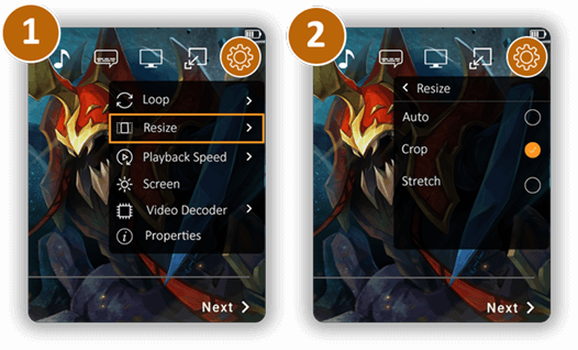 Resize Visual Experience | CnX Player | Android - Phone / Tablet | Google Play
